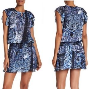 NWT Parker Flutter Sleeve Smocked Dress Floral